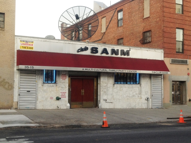 Club SANM on 36th Ave in Astoria, Queens. C. Nelson, 2013.