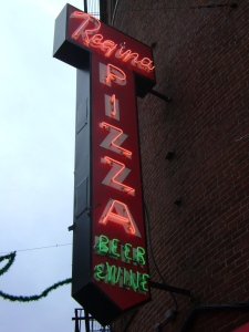 Classic neon sign, a beacon since 1926.