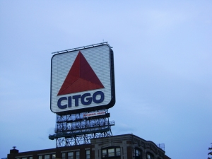 The famous Citgo sign. Craig Nelson, 2013.