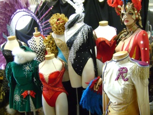 Rockettes costumes from the archives. C. Nelson, 2013.