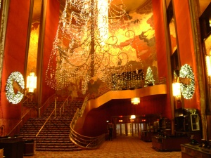 The lobby decked out for the holidays. C. Nelson, 2013.