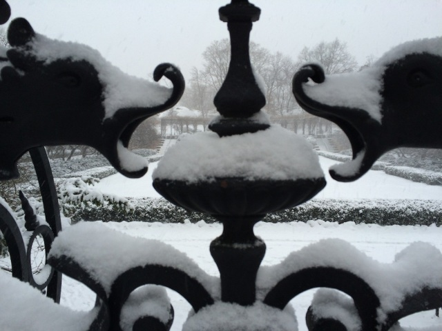 The iron gates of the Conservatory Gardens. Photo: Patricia Glowinski