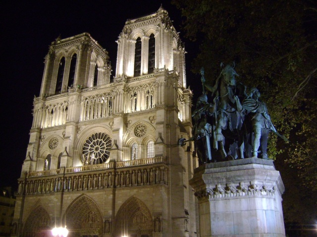 Notre Dame at night. Photo: Craig Nelson