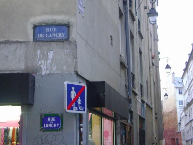 Rue de Lancry. Photo: Craig Nelson