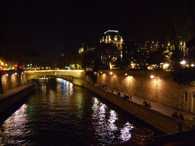 Hanging out along the Seine at night. Photo: Craig Nelson